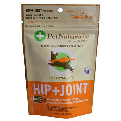 Picture of Pet Naturals of Vermont Hip and Joint for Small Dogs Chicken Liver - 45 Soft Chews