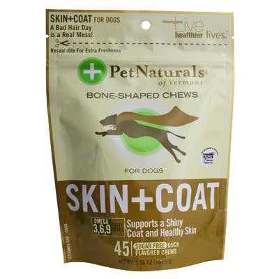 Picture of Pet Naturals of Vermont Skin and Coat for Dogs Duck - 45 Soft Chews