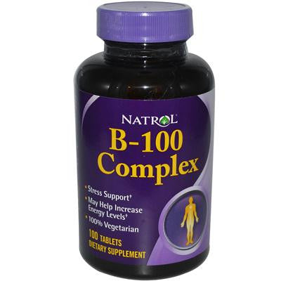 Picture of Natrol B-100 Complex - 100 Tablets