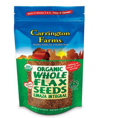 Carrington Farms Flax Seed - Organic Whole - Case of 6 - 15 oz