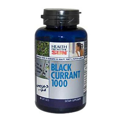 Picture of Health From the Sun Black Currant Oil - 1000 mg - 30 Softgels