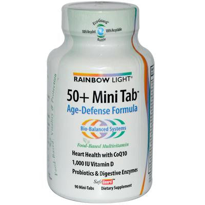 Picture of Rainbow Light 50 Plus Mini-Tab Age-Defense Formula - 90 Tablets
