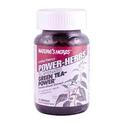 Picture of Nature's Herbs Caffeine Free Green Tea Power - 60 Capsules