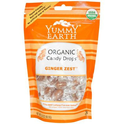 Picture of Yummy Earth Organic Candy Drops Ginger Zest 3.3 oz - Case of 6 - 3.3 oz