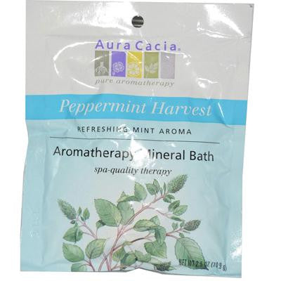 Picture of Aura Cacia Aromatherapy Mineral Bath Peppermint Harvest - 2.5 oz - Case of 6