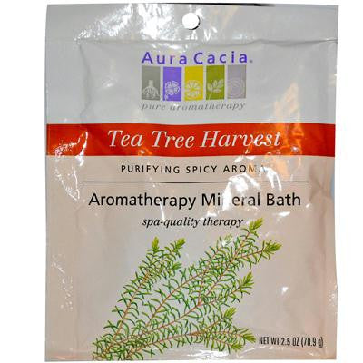 Picture of Aura Cacia Aromatherapy Mineral Bath Tea Tree Harvest - 2.5 oz - Case of 6