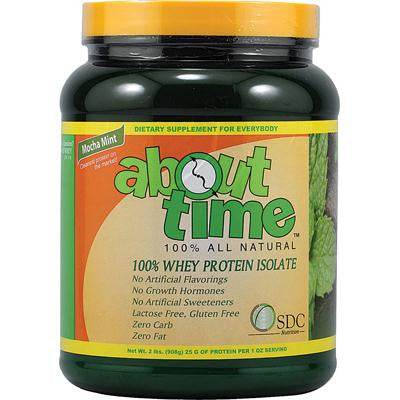 Picture of About Time Whey Protein Isolate Mocha Mint - 2 lbs