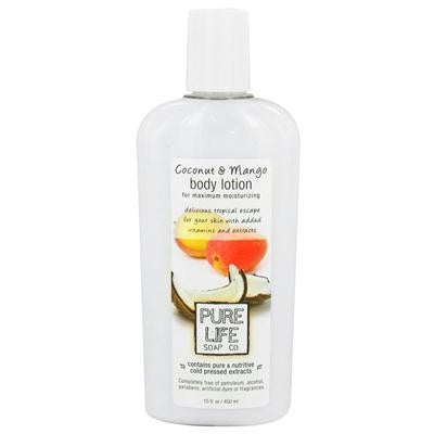 Picture of Pure Life Body Lotion Coconut and Mango - 14.9 fl oz