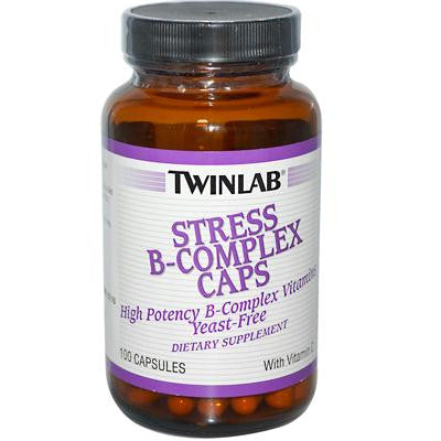 Picture of Twinlab Stress B-Complex Caps - 100 Capsules