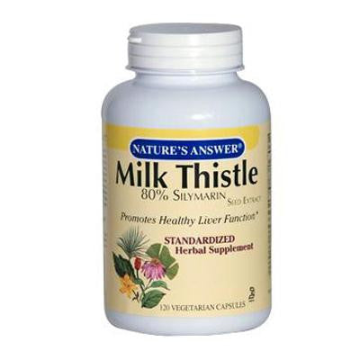 Picture of Nature's Answer Milk Thistle Seed Extract - 120 Vegetarian Capsules