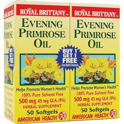 Picture of American Health Royal Brittany Evening Primrose Oil Twin Pack - 500 mg - 50+50 Softgels