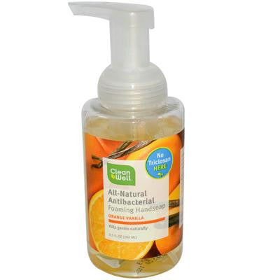 Picture of CleanWell All-Natural Antibacterial Foaming Hand Wash Orange Vanilla - 9.5 fl oz
