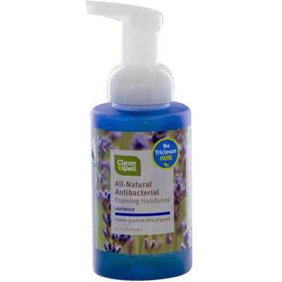 Picture of CleanWell All-Natural Antibacterial Foaming Hand Wash Lavender Absolute - 9.5 fl oz