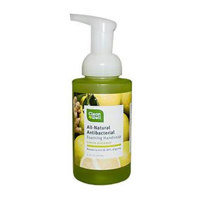 Picture of CleanWell All-Natural Antibacterial Foaming Hand Wash Bergamot Ginger - 9.5 fl oz