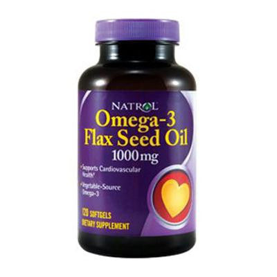 Picture of Natrol Flax Seed Oil - 1000 mg - 120 Softgels