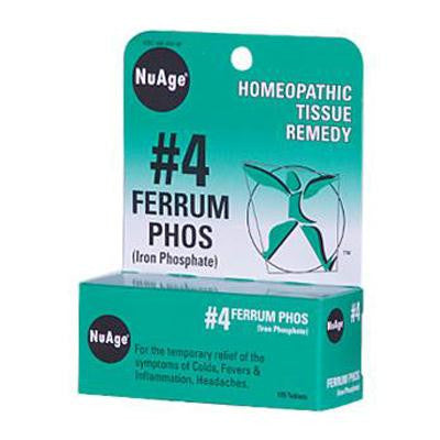 Picture of Hyland's NuAge No.4 Ferrum Phos - 125 Tablets