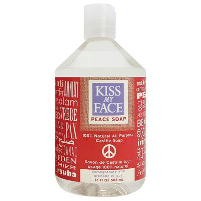 Picture of Kiss My Face Castile Peace Soap Pomegranate Acai - 17 oz