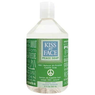 Picture of Kiss My Face Castile Peace Soap Grassy Mint - 17 fl oz