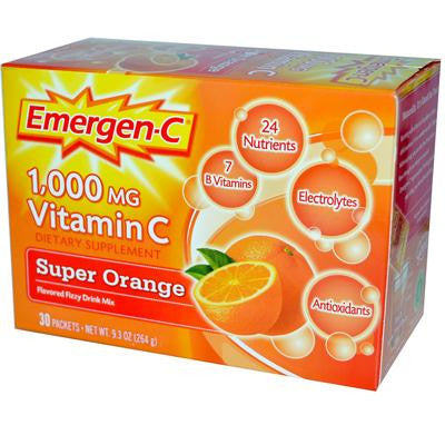 Picture of Alacer Emergen-C 1000 mg Vitamin C - Super Orange - 30 Packet