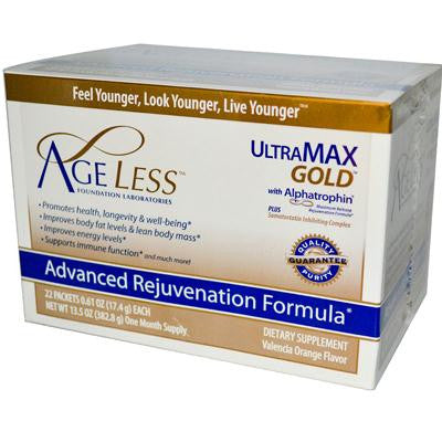 Picture of Ageless Foundation UltraMAX Gold with Alphatrophin Valencia Orange - 22 Packets