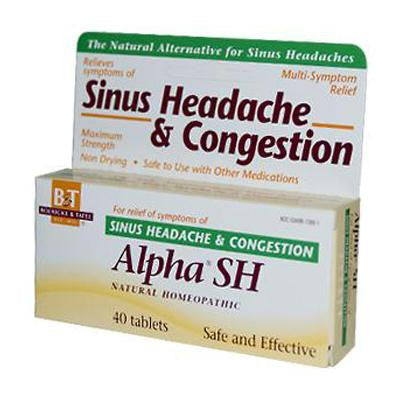 Picture of Boericke and Tafel Alpha SH Sinus Headache - 40 Tablets