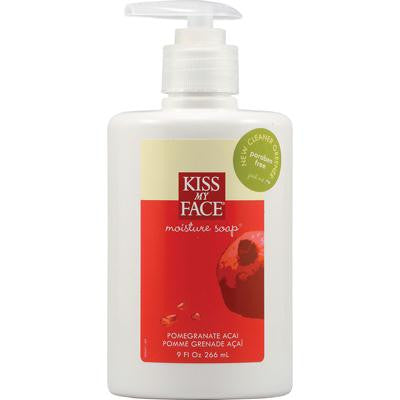 Picture of Kiss My Face Moisture Soap Pomegranate Acai - 9 fl oz