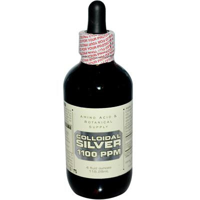Picture of Amino Acid and Botanical Supply Liquid Colloidal Silver - 500 ppm - 4 fl oz