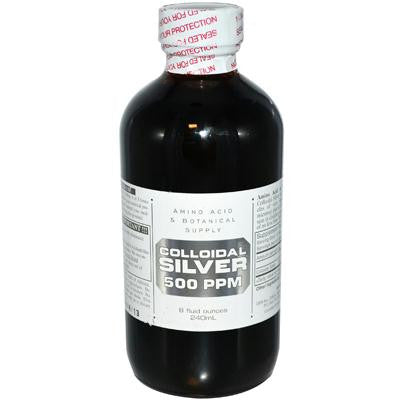 Picture of Amino Acid and Botanical Supply Colloidal Silver - 500 ppm - 8 fl oz