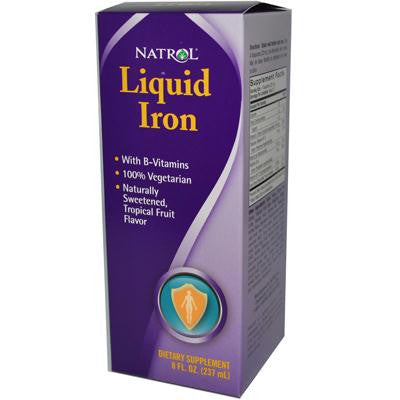 Picture of Natrol Liquid Iron Tropical Fruit - 8 fl oz