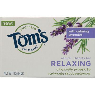 Picture of Tom's of Maine Natural Beauty Bar Relaxing with Calming Lavender - 4 oz - Case of 6