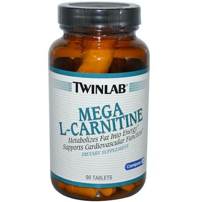 Picture of Twinlab Mega L-Carnitine - 500 mg - 90 Tablets