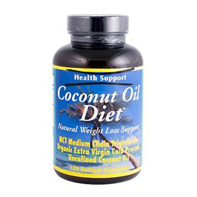 Picture of Health Support Coconut Oil Diet - 120 Softgels