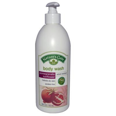 Picture of Nature's Gate Body Wash Velvet Moisture Pomegranate Sunflower - 18 fl oz