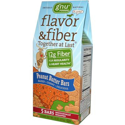 Picture of Gnu Foods Flavor and Fiber Bars Peanut Butter - 5 Bars - Case of 8