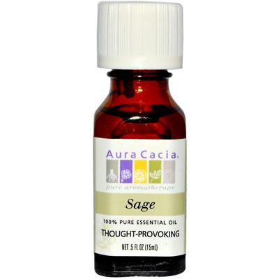 Picture of Aura Cacia Essential Oil Sage - 0.5 fl oz