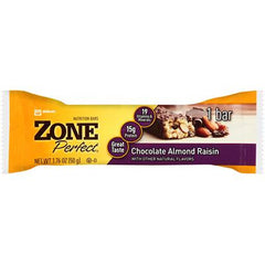 Zone Nutrition Bar - Chocolate Almond Raisin - Case of 12 - 1.76 oz