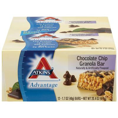 Picture of Atkins Advantage Bar - Chocolate Chip Granola - Case of 12 - 1.7 oz