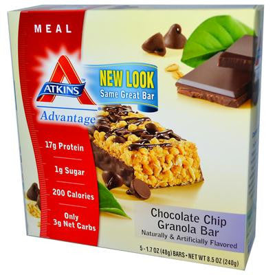 Picture of Atkins Advantage Bar Chocolate Chip Granola - 5 Bars