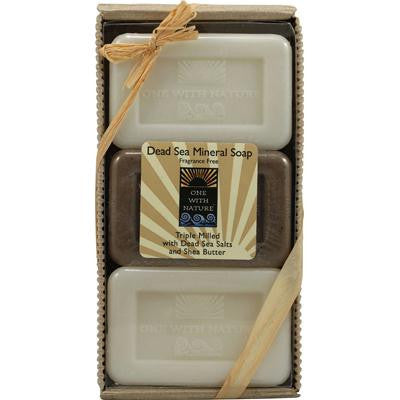 Picture of One With Nature Dead Sea Mineral Soap Gift Pack - Pack of 3 - 4 oz