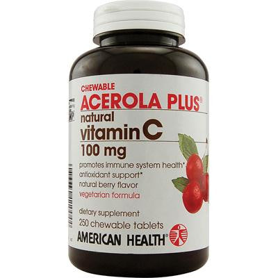 Picture of American Health Acerola Plus Natural Vitamin C Chewable Berry - 100 mg - 250 Chewables
