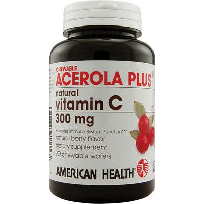 Picture of American Health Acerola Plus Natural Vitamin C Chewable Berry - 300 mg - 90 Chewable Wafers