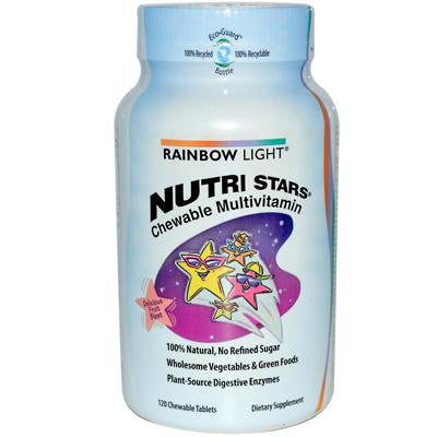Picture of Rainbow Light NutriStars Delicious Fruit Blast - 120 Chewable Tablets