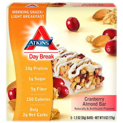 Picture of Atkins Day Break Bar Cranberry Almond - 5 Bars