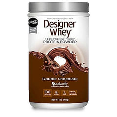 Designer Whey Protein Powder Double Chocolate - 2.1 lbs