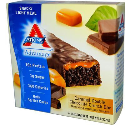 Picture of Atkins Advantage Bar Caramel Double Chocolate Crunch - 5 Bars