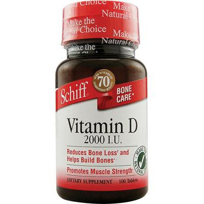 Picture of Schiff Vitamin D - 2000 IU - 100 Tablets