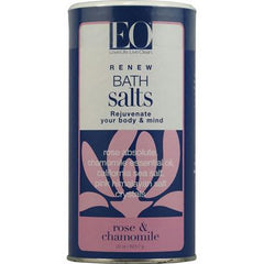 EO Products Bath Salts Rose and Chamomile - 22 oz