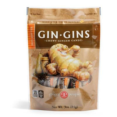 Picture of Ginger People Gingins Chewy Hot Coffee Bags - Case of 24 - 3 oz