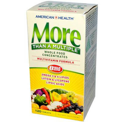 Picture of American Health More Than A Multiple Whole Food Concentrates - 120 Tablets