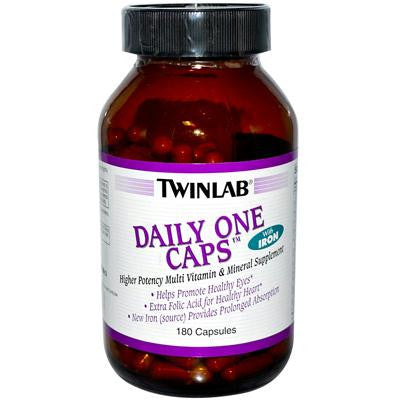 Picture of Twinlab Daily One Caps with Iron - 180 Capsules